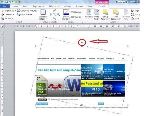 [HD] 3 Cách xoay hình ảnh trong word 2010 (group tin học)