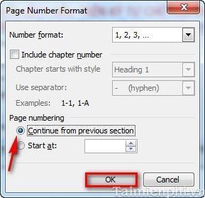 Lỗi chèn số thứ tự trong trang word nhưng không được