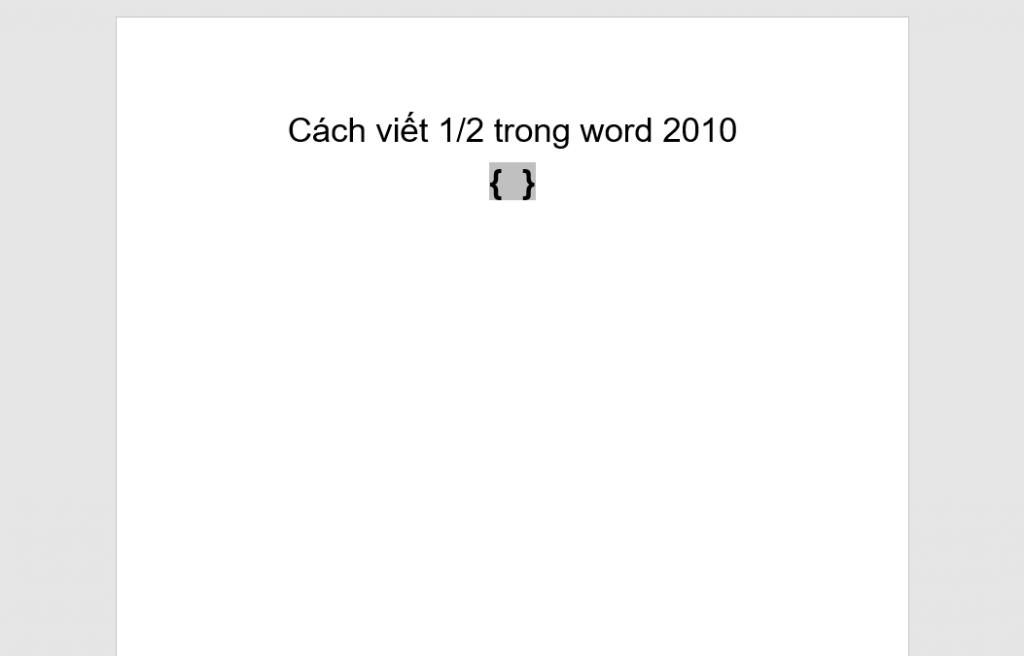 Cách viết phân số trong word 2010