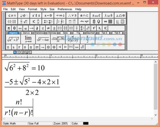 Viết phân số trong word bằng phần mềm MathType