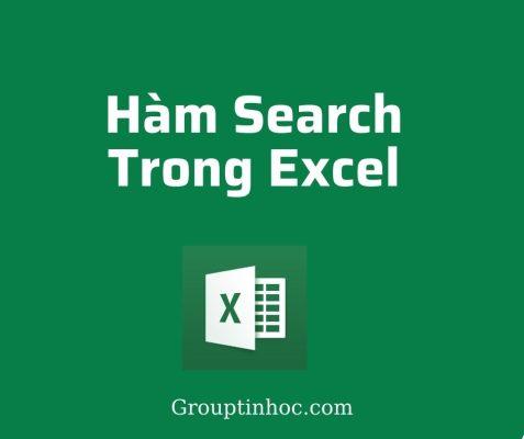 Hàm Search trong Excel – Hàm Tìm Kiếm Dữ Liệu trong Excel